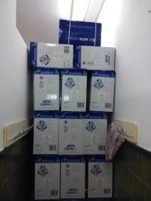Els 63 ventiladors preparats per a ser instal.lats